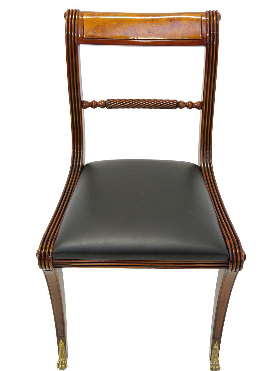 stuhl lehnstuhl sitzm bel englischer stil mahagoni mit schwarzem leder 3279 m bel sitzm bel st hle. Black Bedroom Furniture Sets. Home Design Ideas