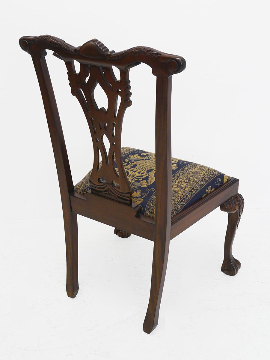 Stuhl Lehnstuhl Sitzmöbel Antik Stil Massivholz Dunkler