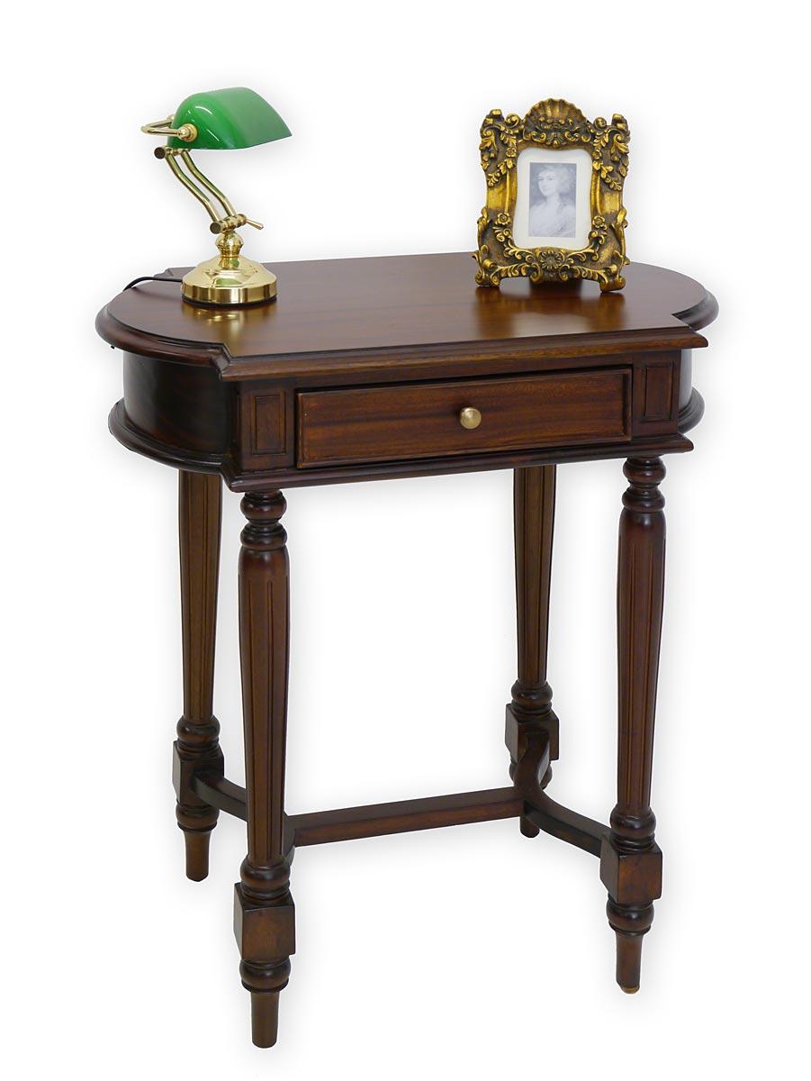 beistelltisch telefontisch tisch im antiken stil massiv in nussbaum 3312 ebay