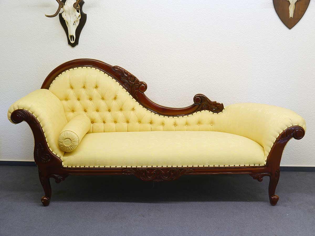 Sofa aus Massivholz Mahagoni-Farbton