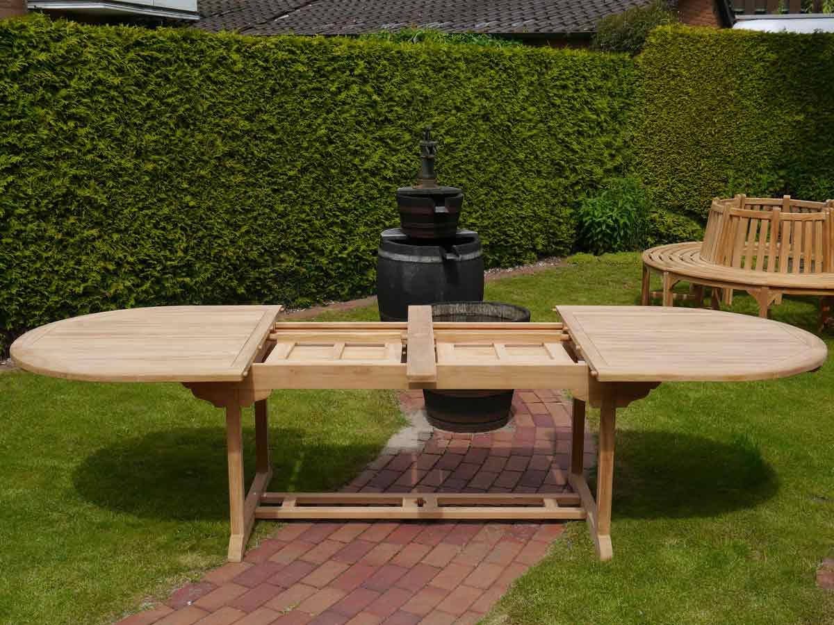 Tisch mit 2 aufklappbare Einlegeböden
