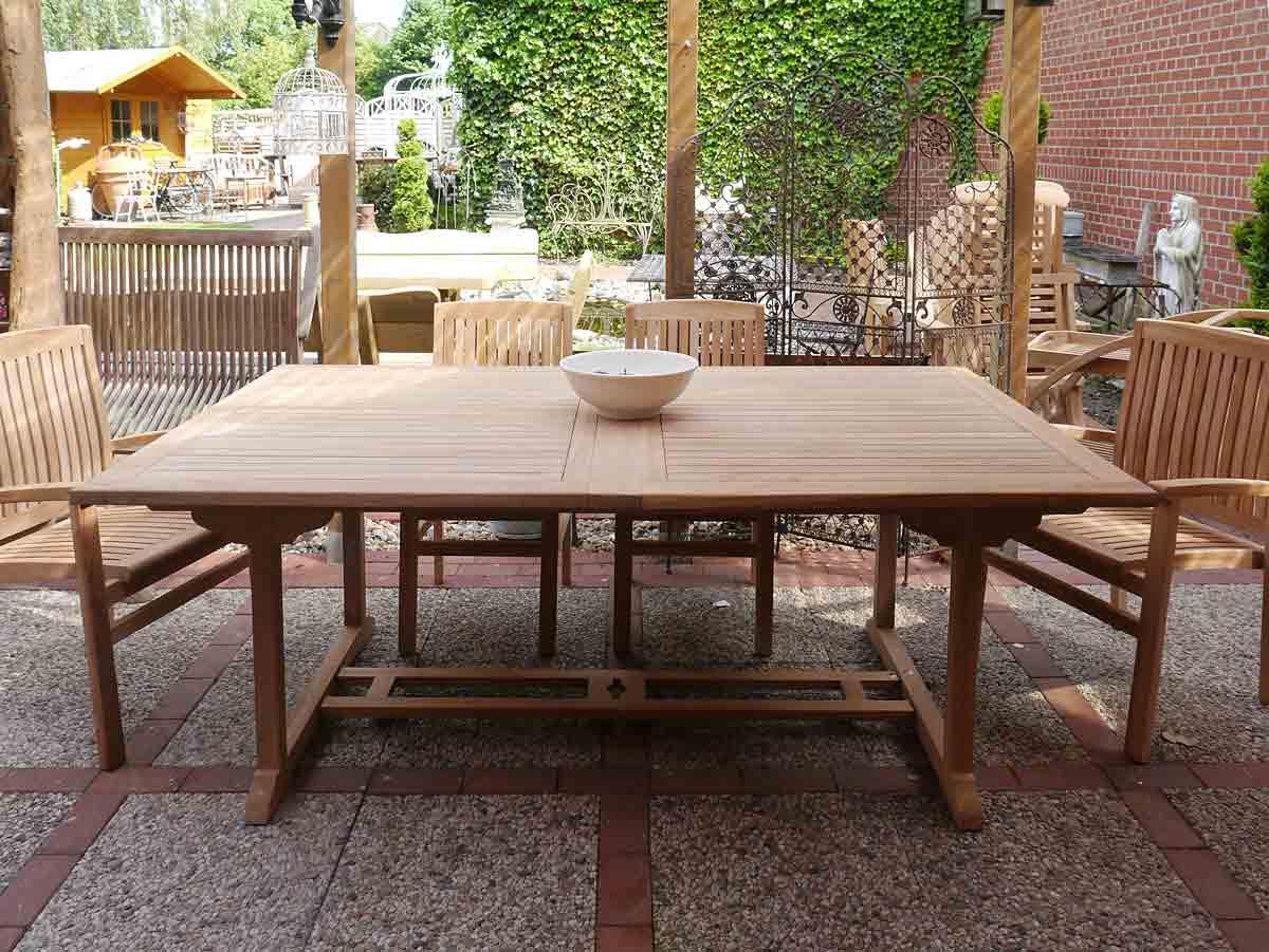 Gartentisch tisch gartenm bel aus massivem teakholz ausziehbar 200 cm 3653 m bel tische esstische - Gartenmobel tisch ausziehbar ...