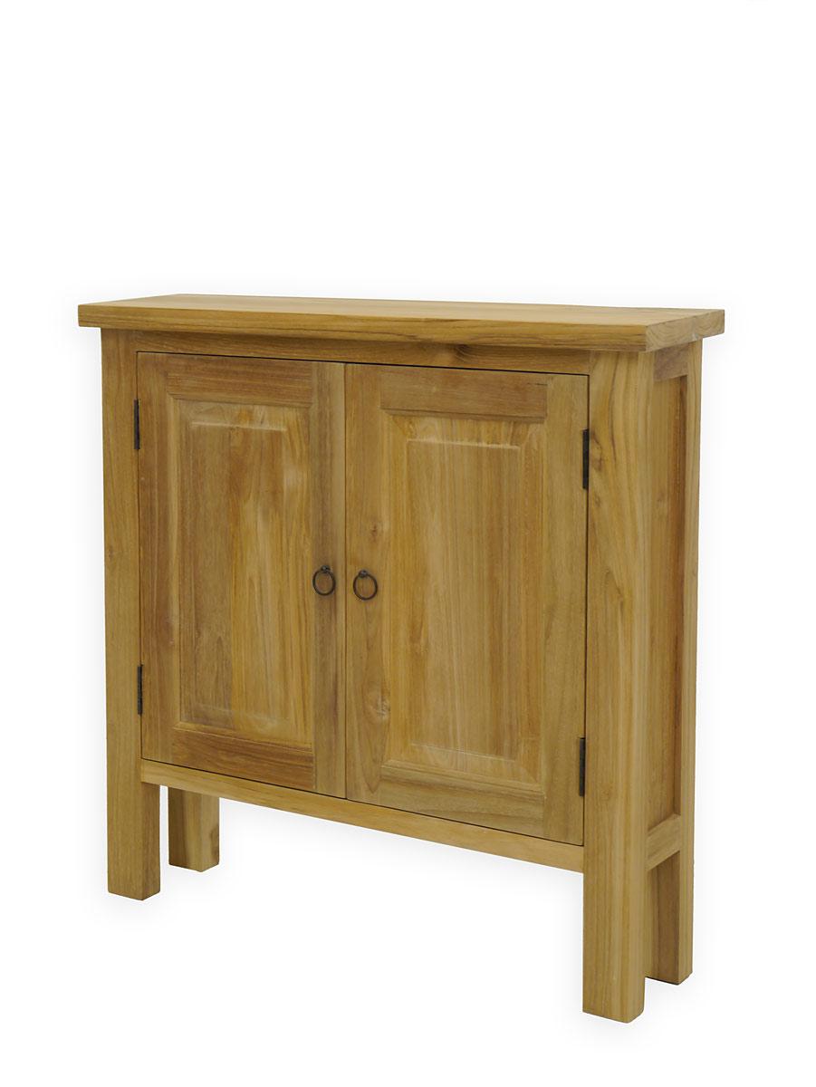 wandtisch flurtisch schrank mit geringer tiefe aus teakholz naturfarben 3767 m bel tische. Black Bedroom Furniture Sets. Home Design Ideas