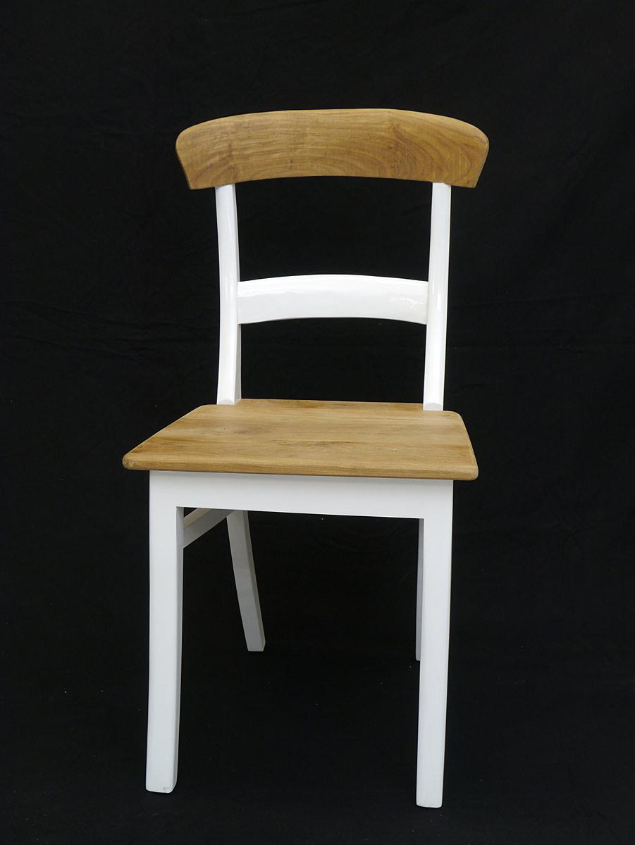 Trendiger Stuhl aus Teakholz