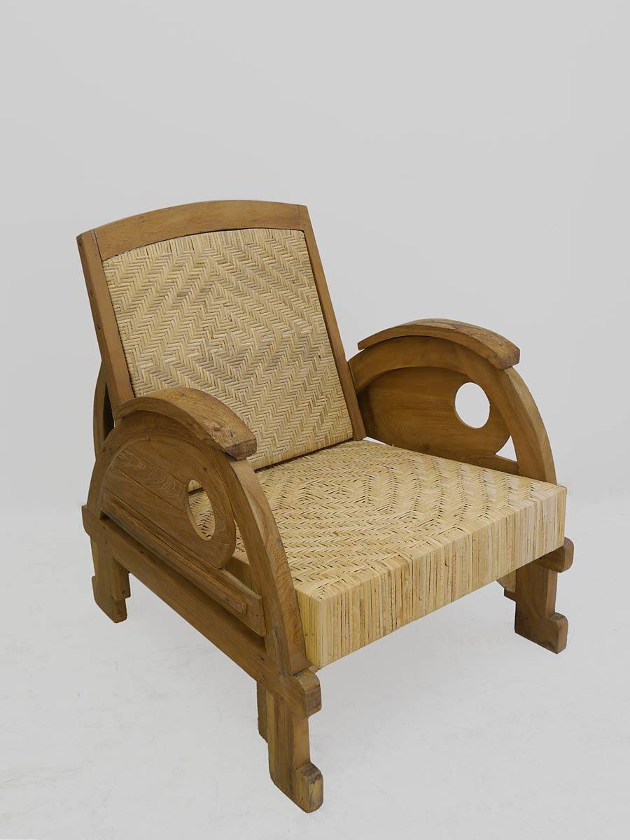 Sessel mit Geflecht