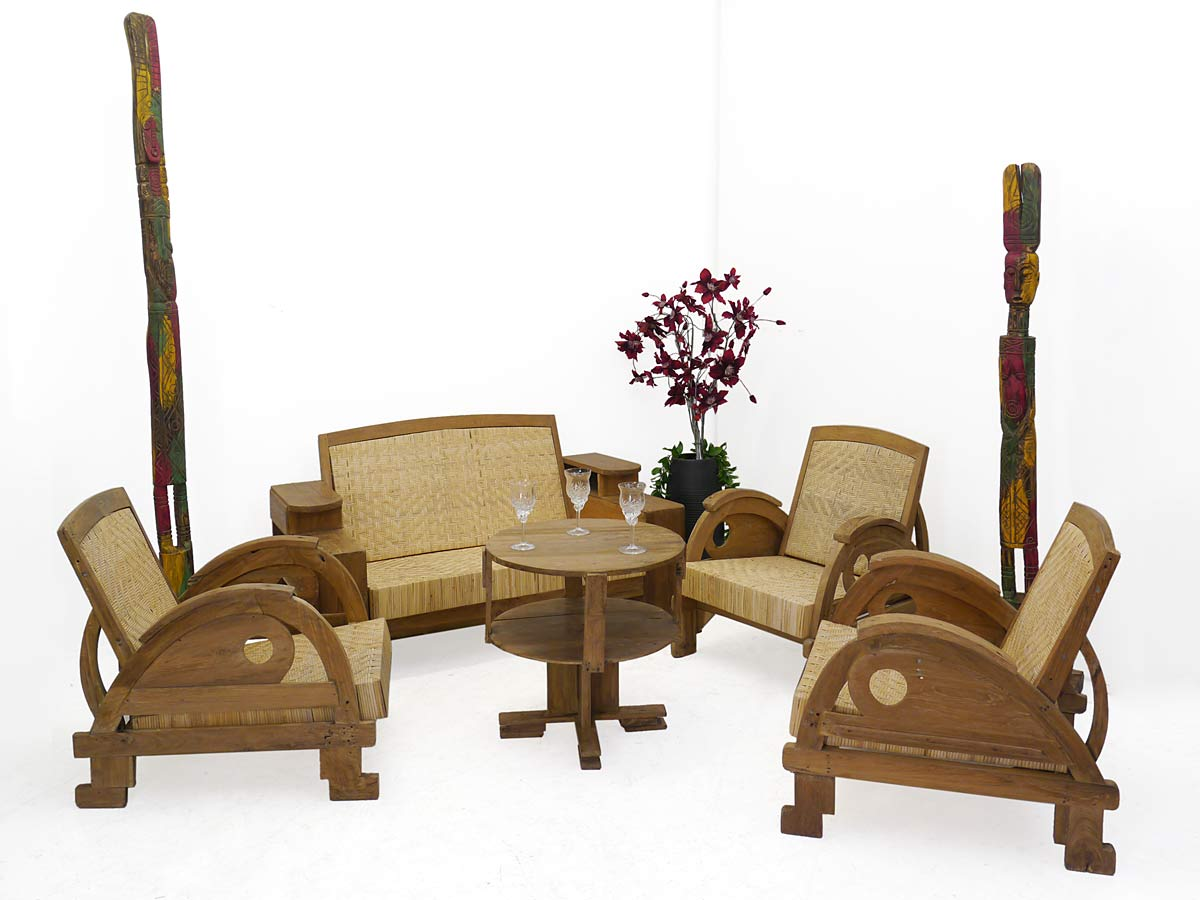 Sitzgruppe im rustikalen Stil