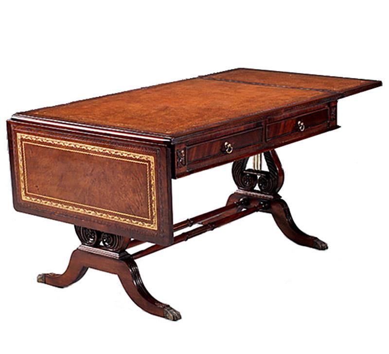 couchtisch tisch aus mahagoni auf lyra untergestell im englischen stil 3968 m bel tische. Black Bedroom Furniture Sets. Home Design Ideas
