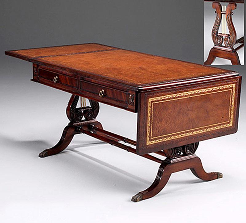 couchtisch tisch aus mahagoni auf lyra untergestell im englischen stil 3968 tische couchtische. Black Bedroom Furniture Sets. Home Design Ideas
