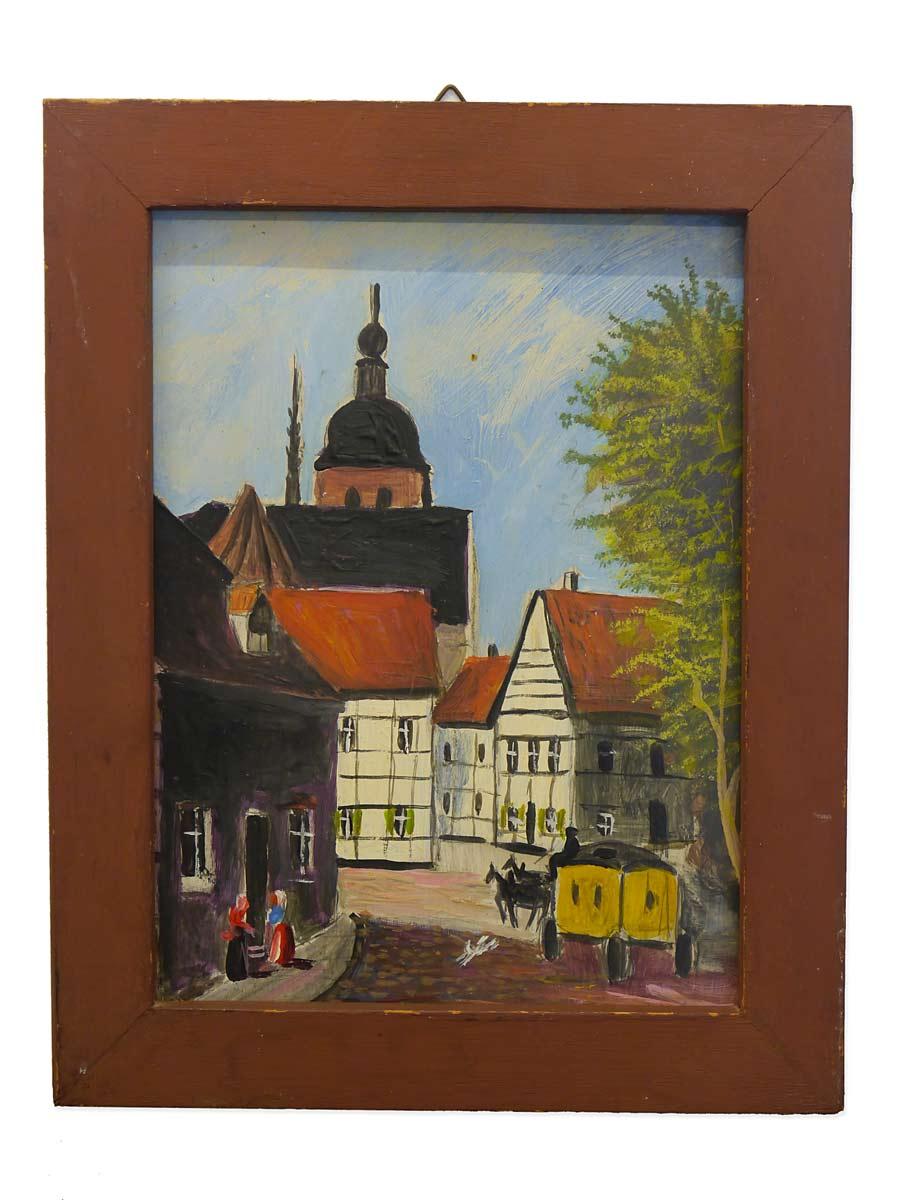 Gemälde Ölbild Postkutsche