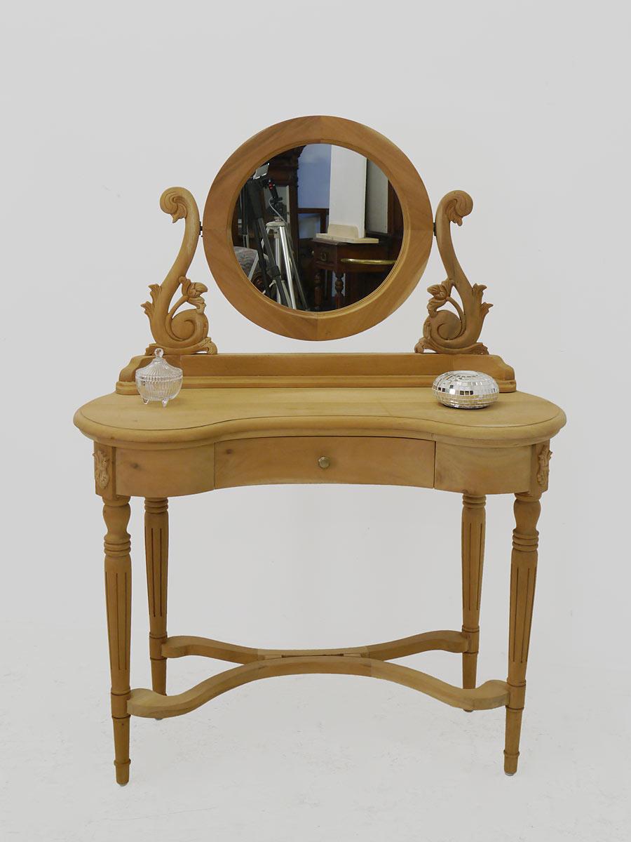 schminktisch frisiertisch im antiken stil mahagoni unbehandelt 4035 m bel tische schminktische. Black Bedroom Furniture Sets. Home Design Ideas