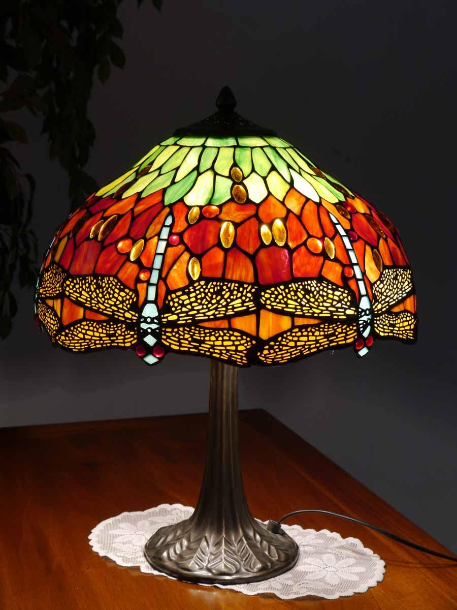 lampe leuchte tischlampe tischleuchte im tiffany stil libelle 4040 lampen tischlampen. Black Bedroom Furniture Sets. Home Design Ideas