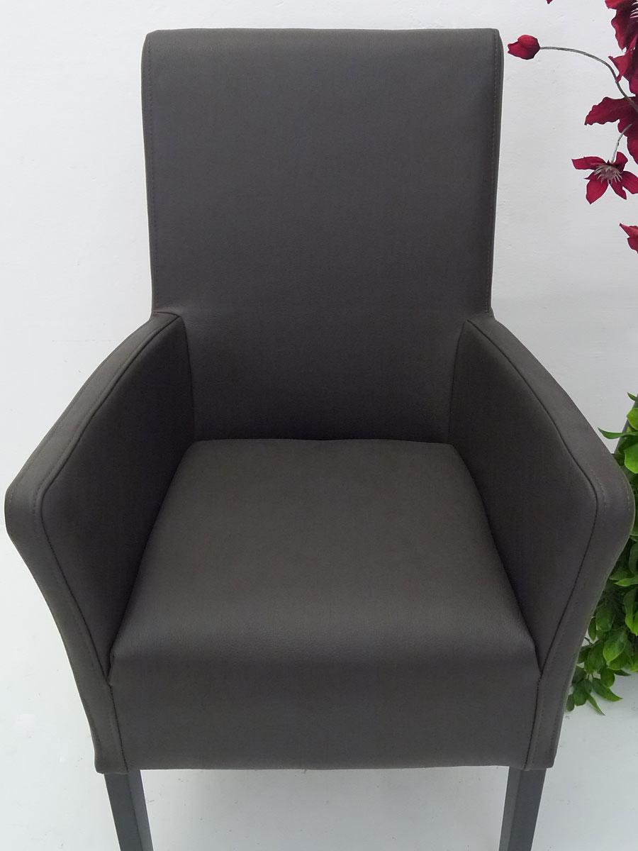 armlehnstuhl sessel stuhl edles design massivholz echt leder kaffee 4107 m bel sitzm bel. Black Bedroom Furniture Sets. Home Design Ideas