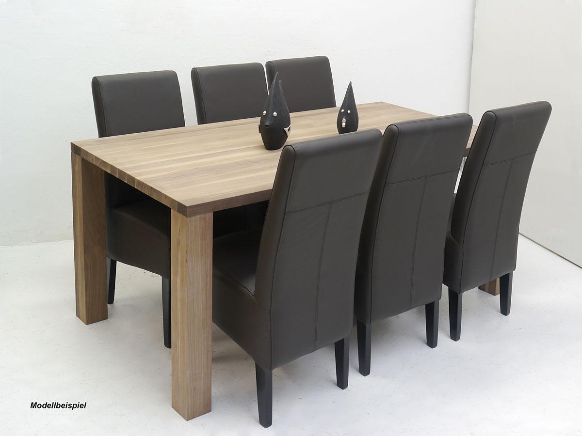 Esstisch Tisch Esszimmertisch Nussbaum massiv für 8 Personen (4182)