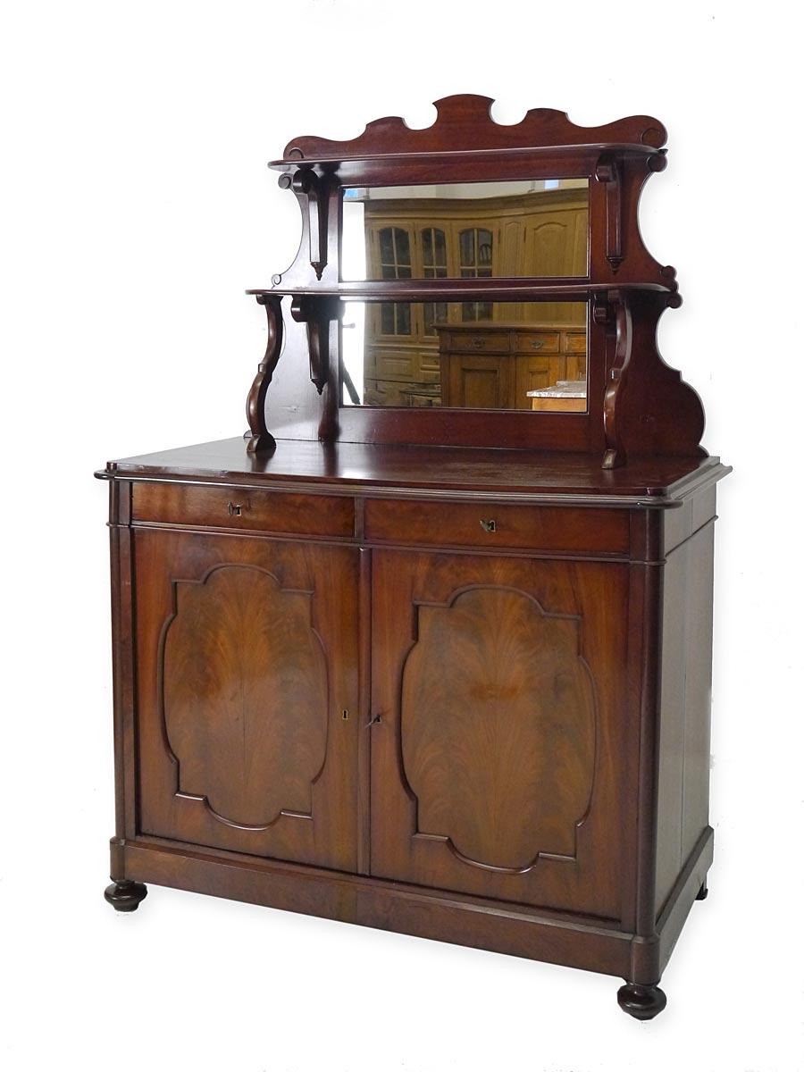 Spätbiedermeier Spiegelanrichte um 1860