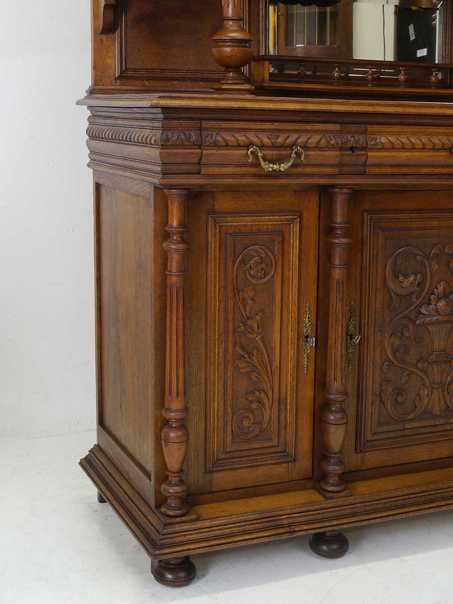 buffet k chenschrank buffetschrank antik gr nderzeit um 1880 eiche massiv 4220 m bel schr nke. Black Bedroom Furniture Sets. Home Design Ideas