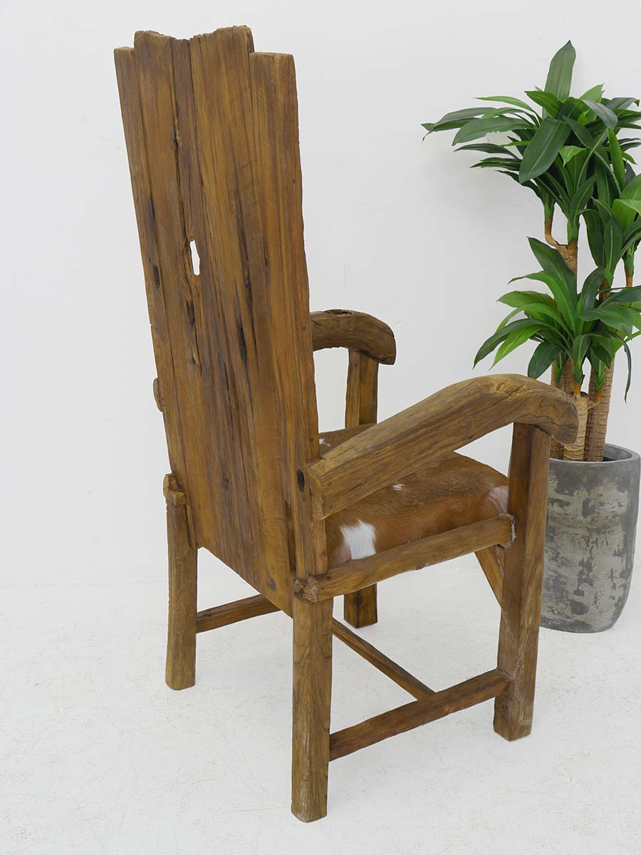 stuhl armlehnstuhl polsterm bel massivholz rustikal ziegenfell 4246 m bel sitzm bel st hle. Black Bedroom Furniture Sets. Home Design Ideas