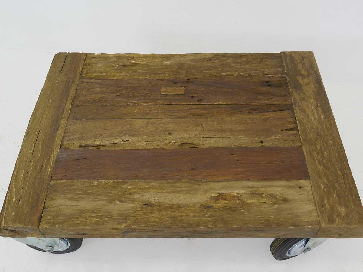 Couchtisch tisch wohnzimmertisch modern massivholz auf rollen 80x60 cm 4254 m bel tische - Wohnzimmertisch modern ...