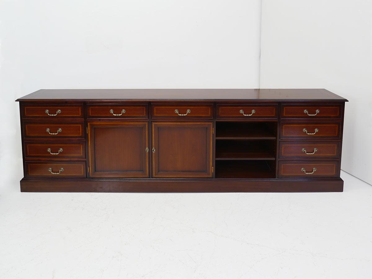 sideboard anrichte lowboard tv schrank englischer stil mahagoni intarsien 4273 m bel kommoden. Black Bedroom Furniture Sets. Home Design Ideas