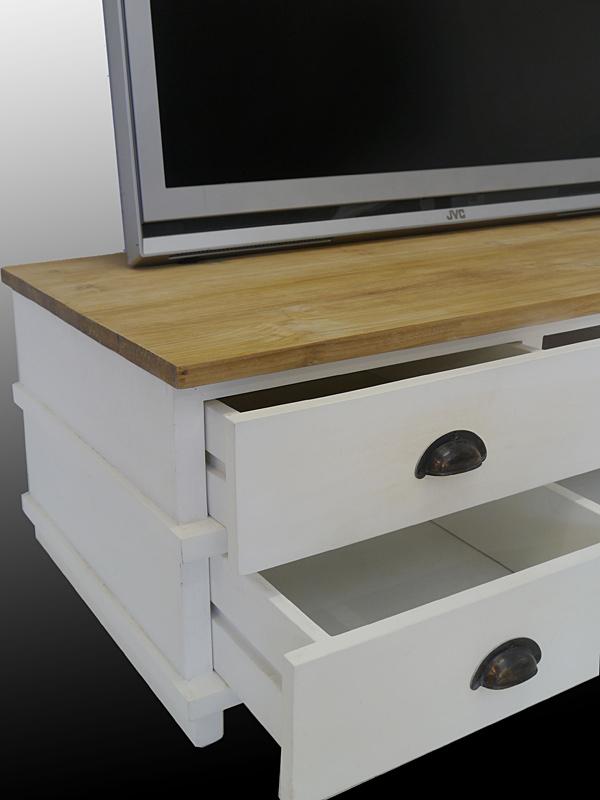 TV-Board Seitenansicht der geöffneten Schubladen