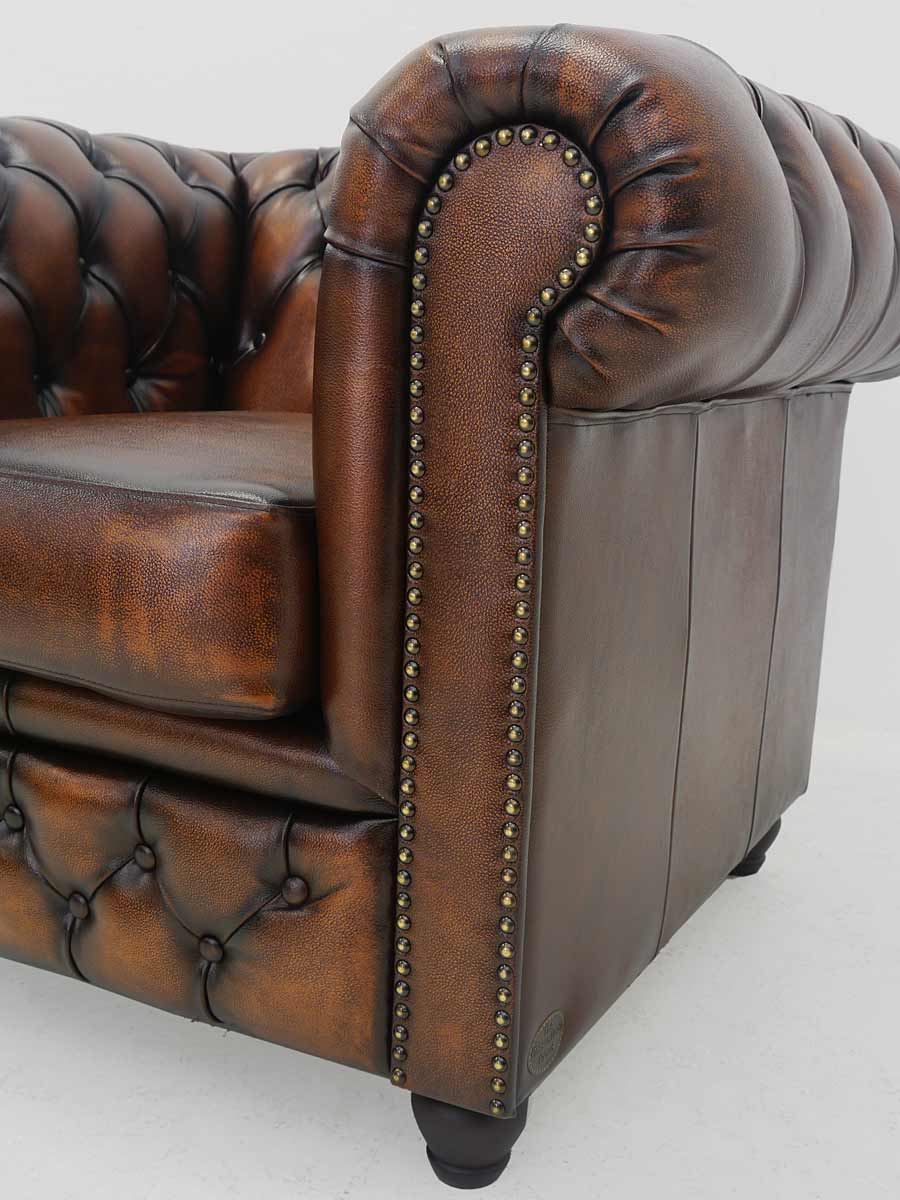 sessel armlehnsessel ledersessel im chesterfield design antik kupfer 4344 sitzm bel sofas und. Black Bedroom Furniture Sets. Home Design Ideas