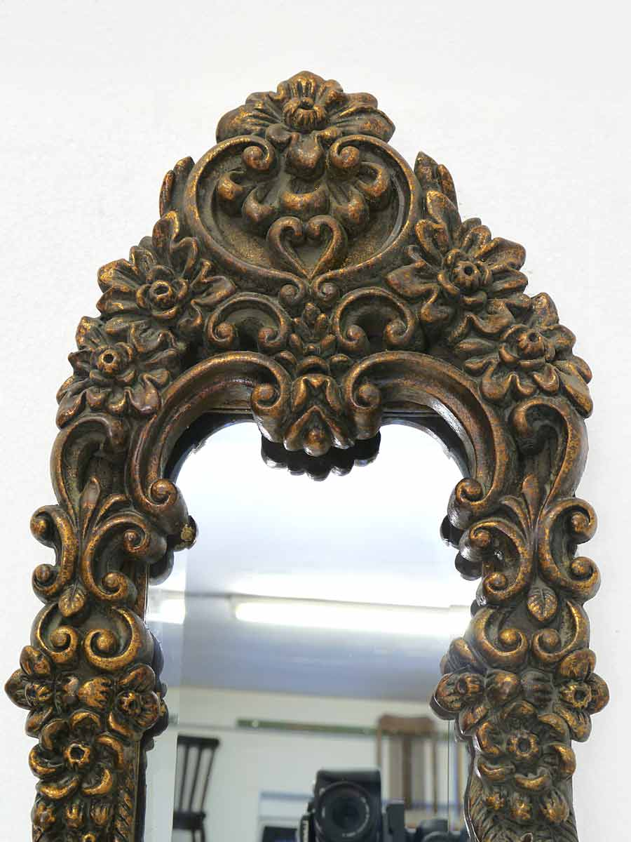 Spiegel wandspiegel garderobenspiegel im antiken stil in kupfer schwarz 4425 dekoration und - Spiegel kupfer rahmen ...