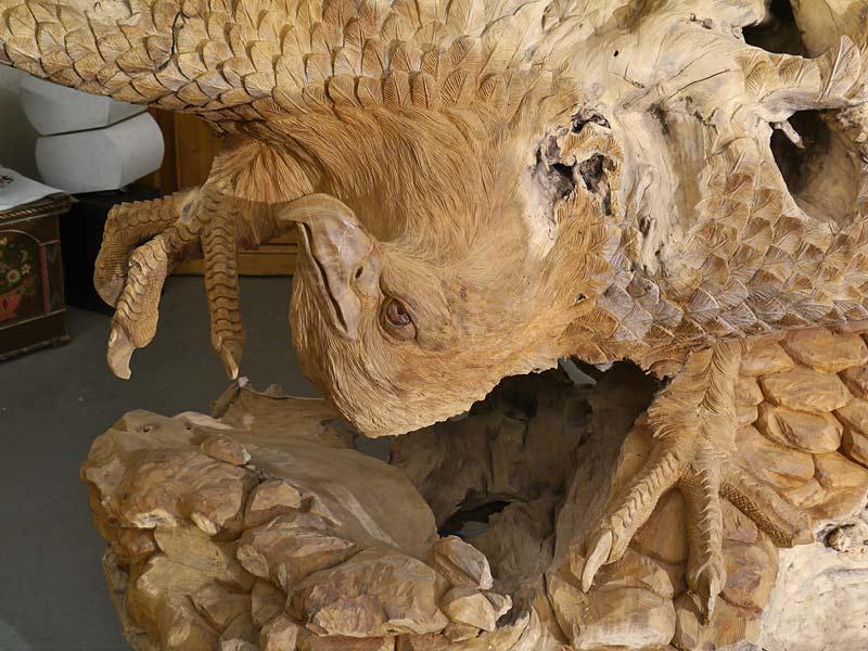 Detailansicht vom Kopf