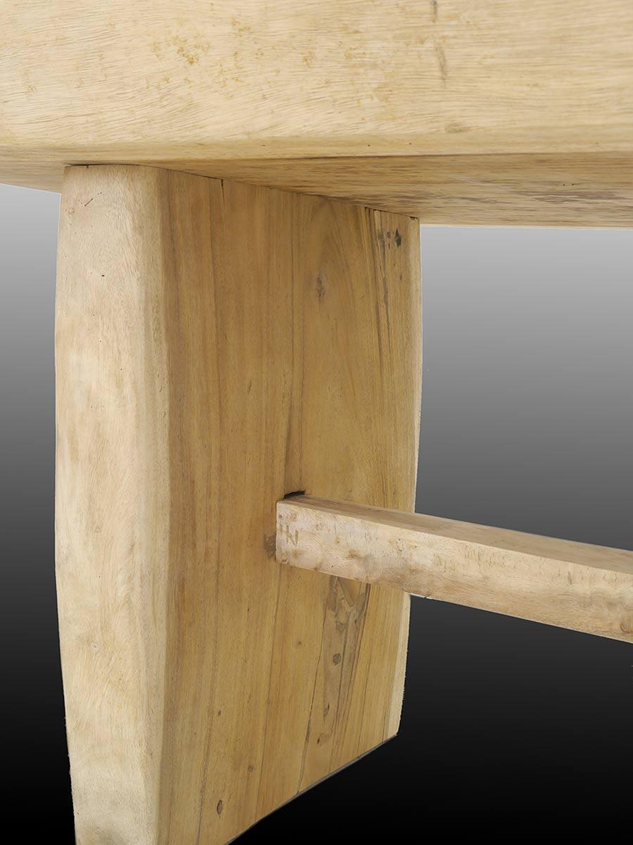 Esstisch tisch aus suarholz asiatischer eiche for Kulissentisch massiv