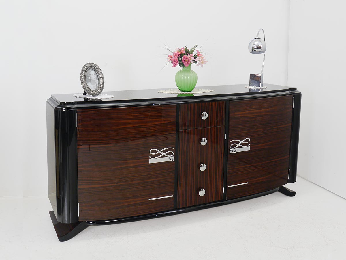 sideboard anrichte art deco schrank franz sisch um 1925 hochglanz lackiert 4814 kommoden und. Black Bedroom Furniture Sets. Home Design Ideas