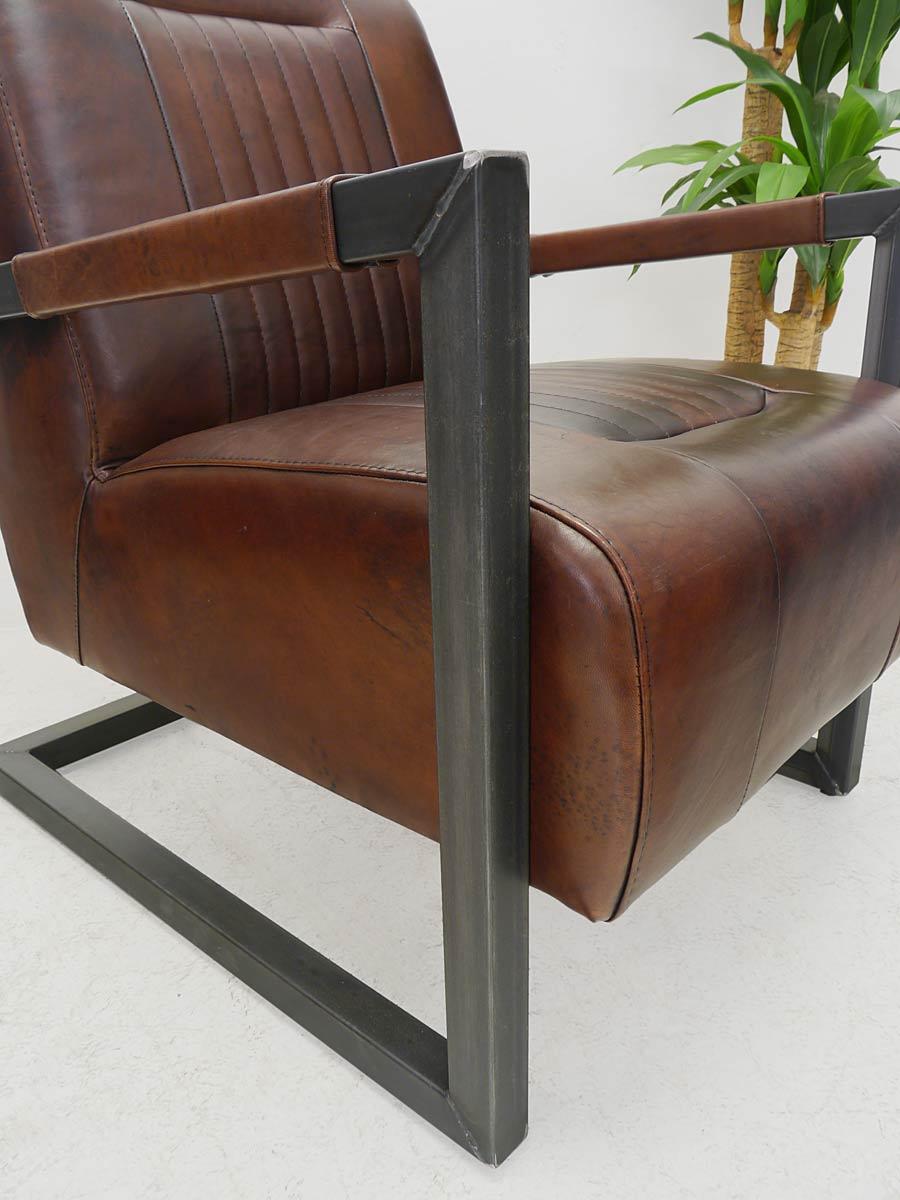 sessel ledersessel polsterm bel edler clubsessel echtleder. Black Bedroom Furniture Sets. Home Design Ideas