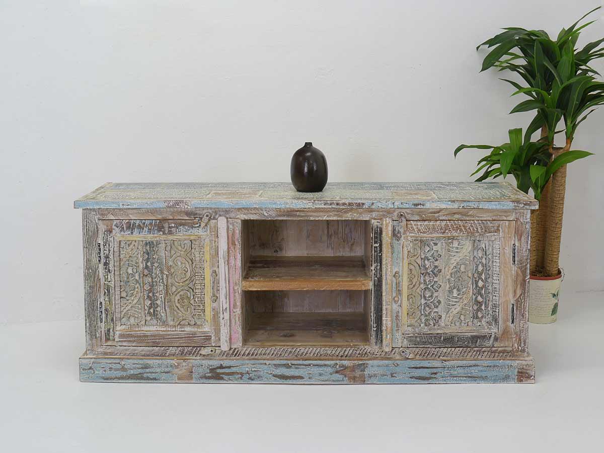 tv schrank tv board sideboard vintage stil aus sheesham holz b 150 cm 4852 m bel kommoden und. Black Bedroom Furniture Sets. Home Design Ideas