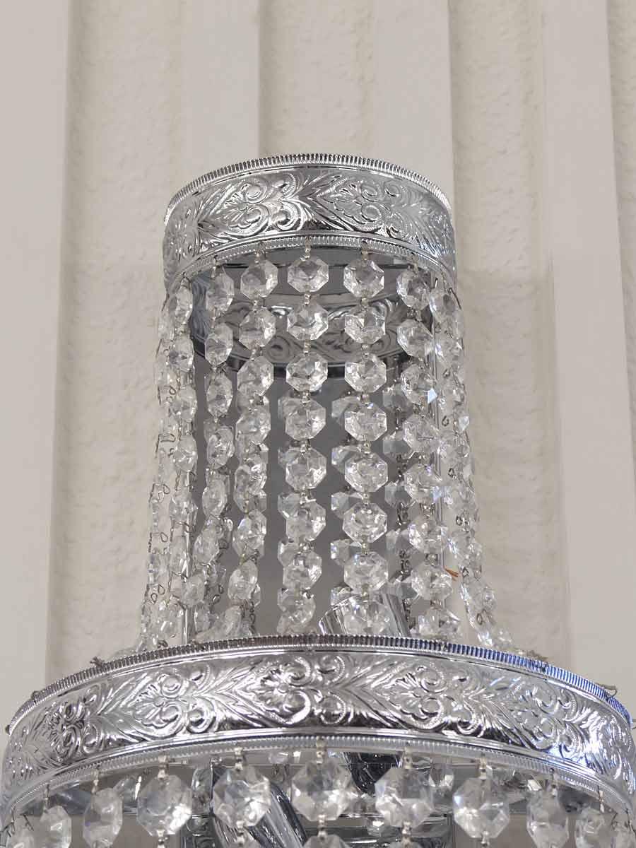 kristall wandleuchte wandlampe leuchte lampe mit chrom montur h 50 cm 4865 4260433243580 ebay. Black Bedroom Furniture Sets. Home Design Ideas