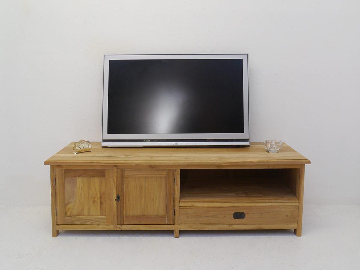 TV-Schrank aus Teakholz massiv unbehandelt