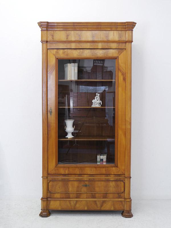 Antiker Bücherschrank in Kirschbaum