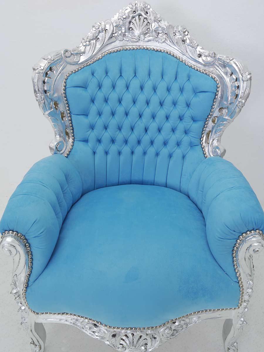 Draufsicht auf den Sessel im barocken Stil