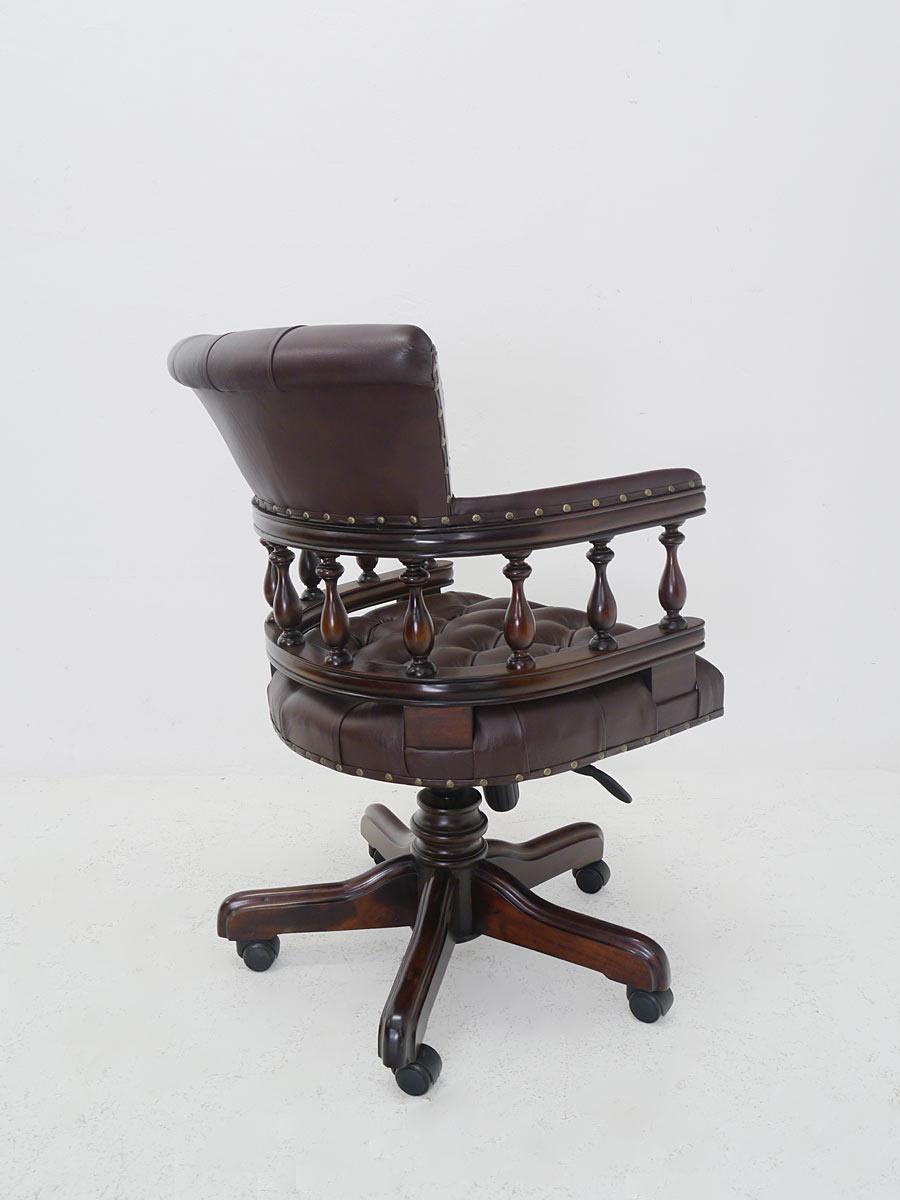 schreibtischsessel b rosessel b rostuhl sessel massivholz braunes leder 5226 m bel sitzm bel. Black Bedroom Furniture Sets. Home Design Ideas
