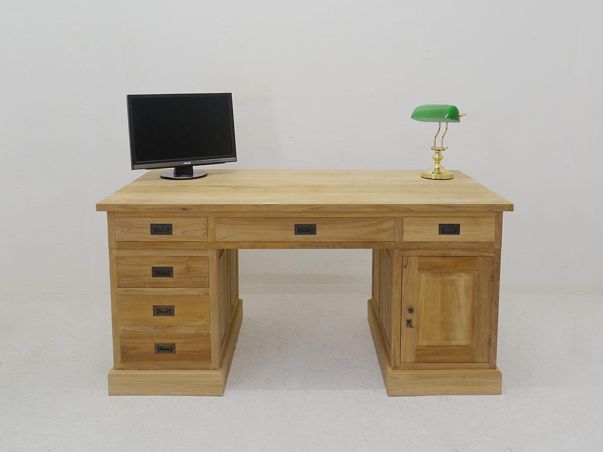 Schreibtisch massiv Teakholz