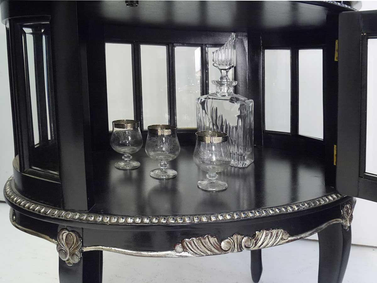 teeschrank barschrank beistelltisch antik stil schwarz. Black Bedroom Furniture Sets. Home Design Ideas