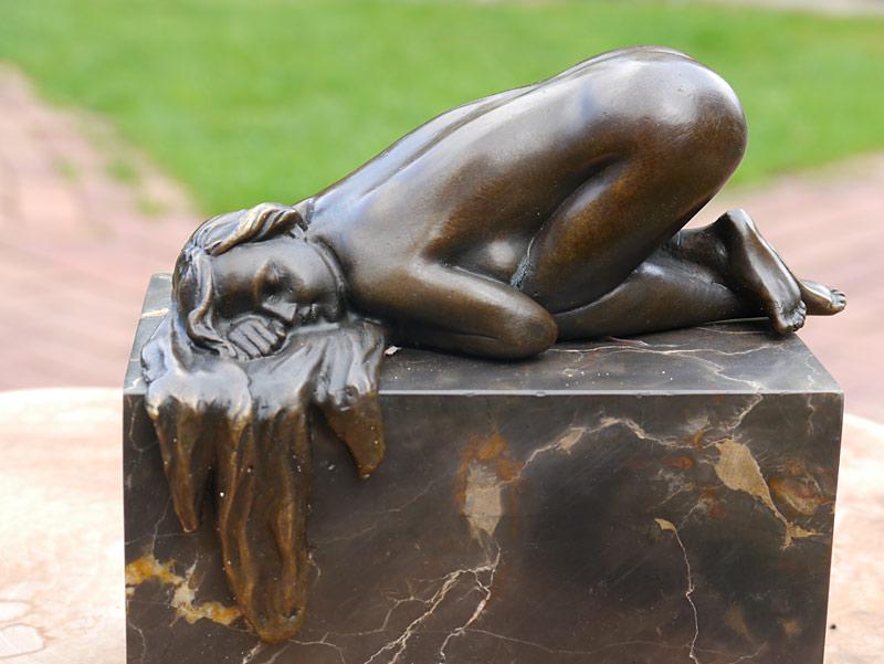 Nahaufnahme der Skulptur