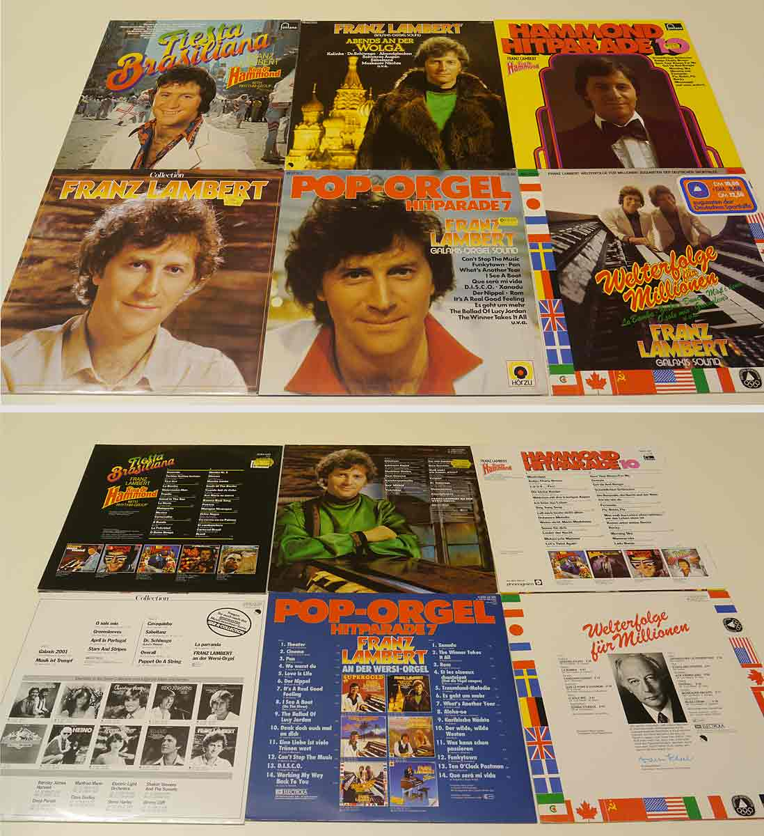 6 Vinylschallplatten von Franz Lambert