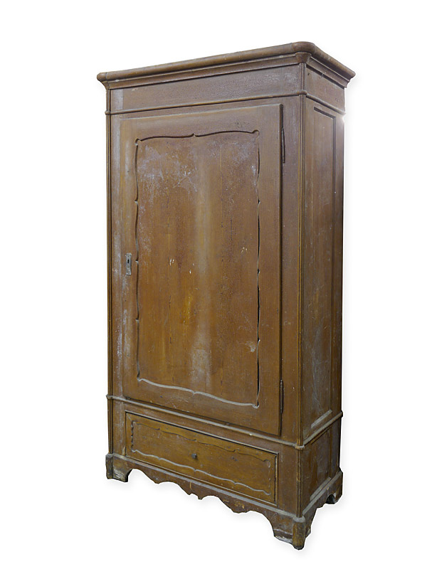 Unrestaurierter Schrank um 1840 aus Weichholz