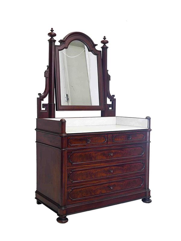 Antike Spiegelkommode um 1850