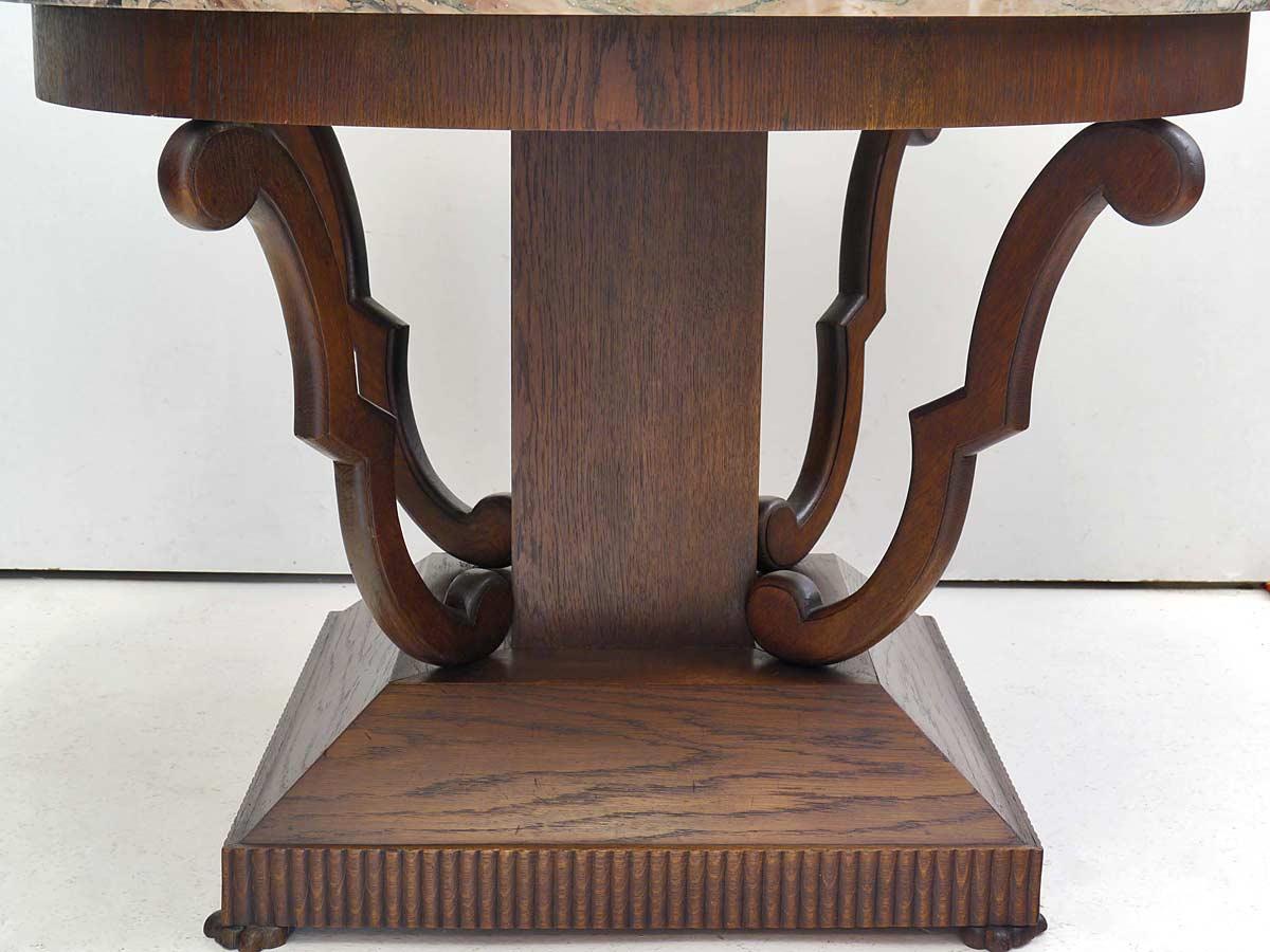 tisch wohnzimmertisch runder couchtisch art deco um 1920 mit marmorplatte 5489 m bel tische. Black Bedroom Furniture Sets. Home Design Ideas