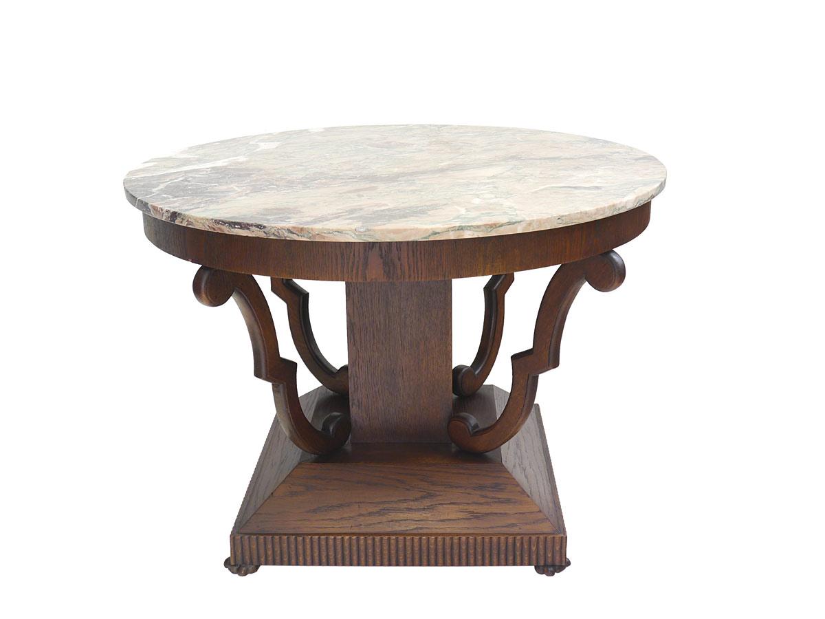 Tisch wohnzimmertisch runder couchtisch art deco um 1920 for Tisch mit marmorplatte gebraucht