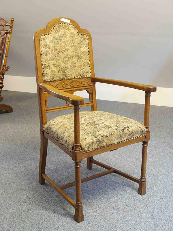 armlehnstuhl stuhl sitzm bel antik um 1940 eiche massiv 5500 ebay. Black Bedroom Furniture Sets. Home Design Ideas