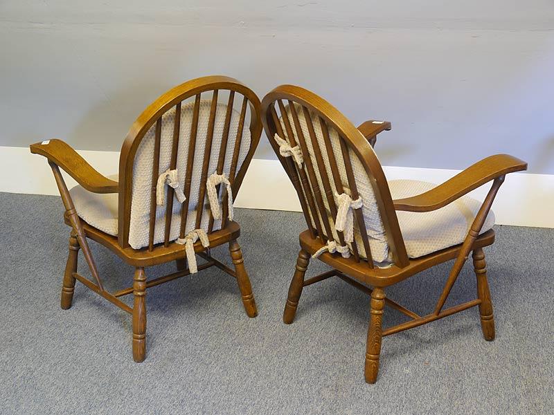 Rückseite der Stühle