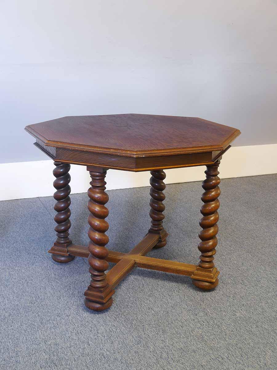 tisch esstisch gr nderzeit um 1880 eiche 8 teckige tischplatte b 128 cm 5528 m bel tische. Black Bedroom Furniture Sets. Home Design Ideas