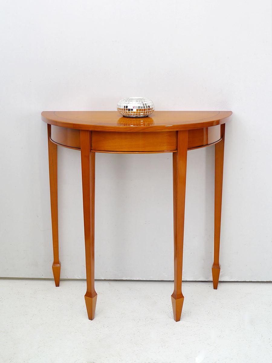 wandtisch wandkonsole nachttisch halbrund im englischen stil in eibe 5559 m bel tische wandtische. Black Bedroom Furniture Sets. Home Design Ideas