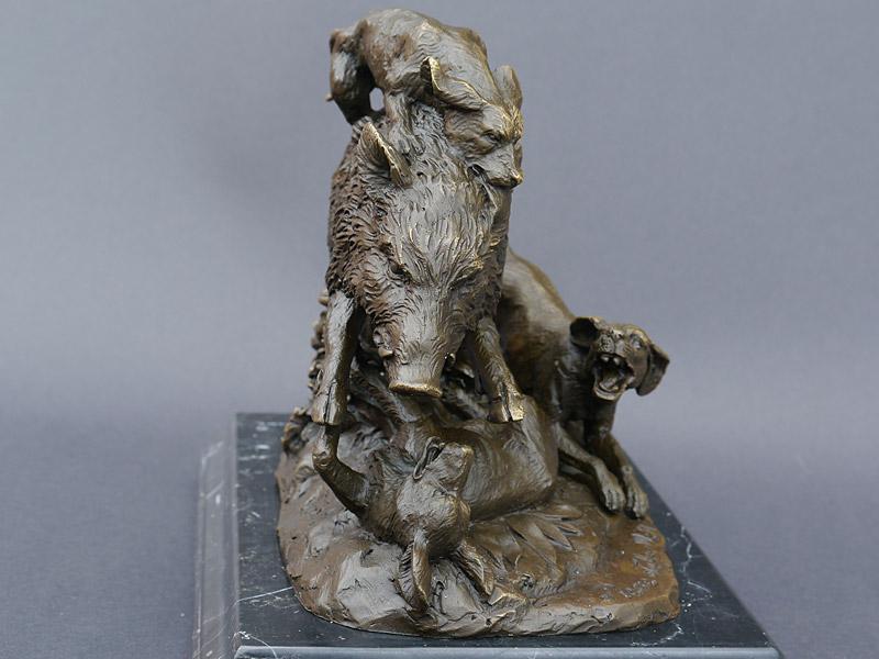 Detailansicht der Bronze Skulptur