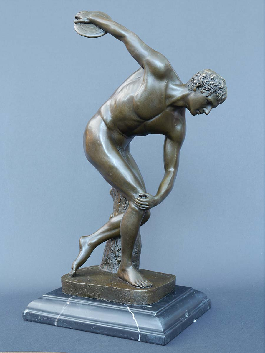 Bronze Figur eines Diskuswerfers