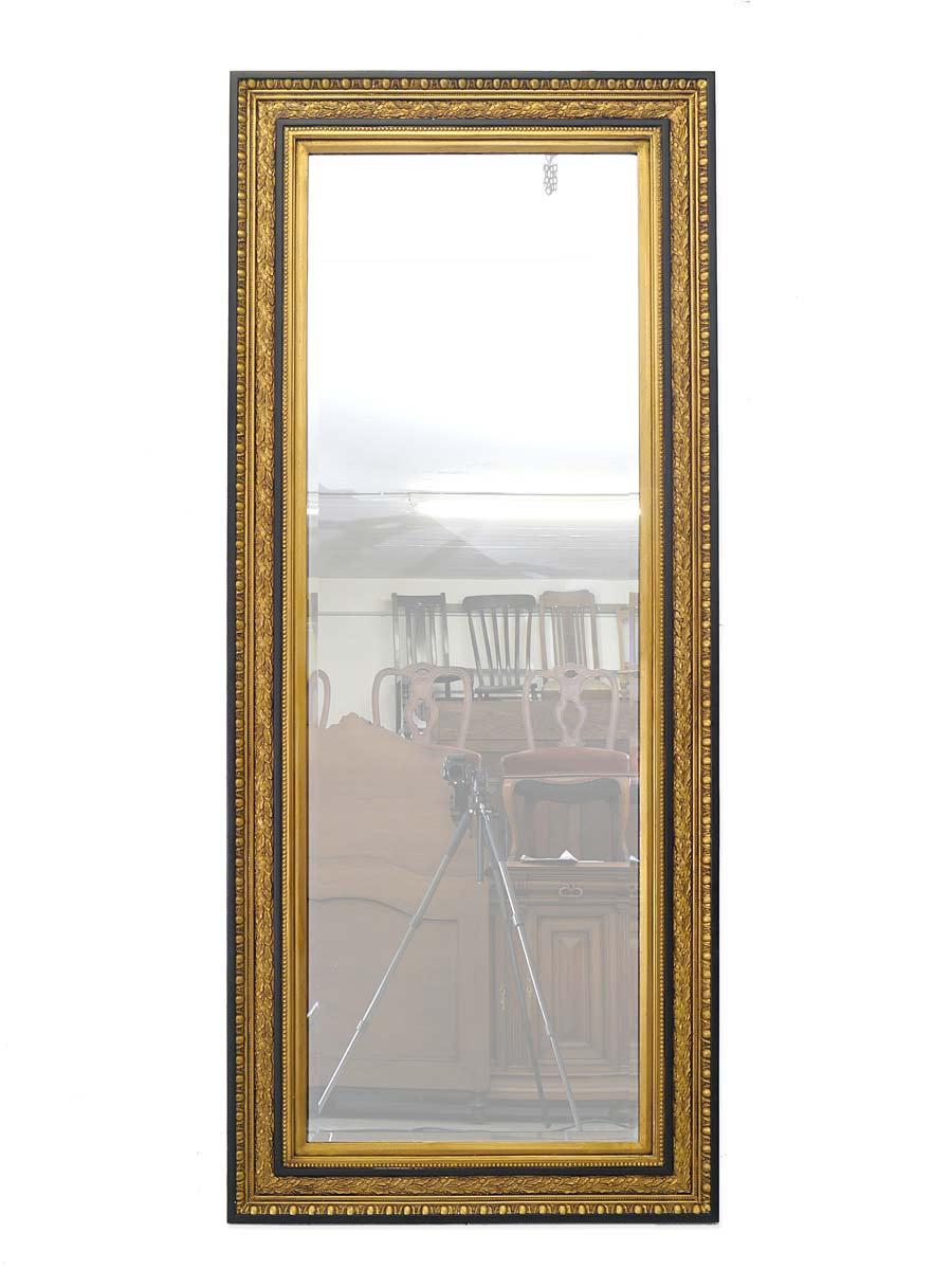 Großer Wandspiegel mit gold-schwarzem Rahmen